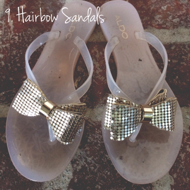 hairbow sandals